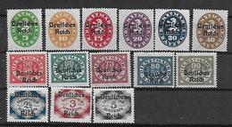 Deutsches Reich DM 1920 Lot Aus DM 34 - DM 51 * Mit Falzrest - Dienstpost