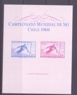 CHILE - 1966 - SKI CHAMPIONSHIPS   SOUVENIR SHEET MNH , SG CAT £25 - Chili