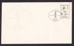Macau: Commemorative Cover, 1965, 1 Stamp, Map, Special Cancel Stamp Day (minor Damage, See Scan) - Lettres & Documents