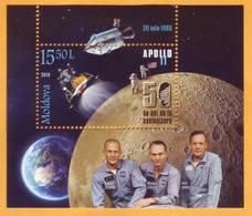 2019 Moldova Moldavie  Space. 50th Anniversary Of The Moon Landing. Apollo. Aldrin. Collins. Armstrong. Mint - Europe