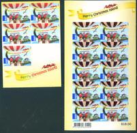 Christmas Island 2013 Xmas Adhesive 2 Carnets Booklets MNH - Christmas Island