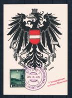 Österreich Karte Musterschau - 1 Sonderstempel Im Neuen Österreich1945 - 1945-60 Covers