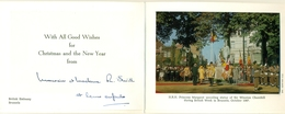 Two Cards With Happy New Year Wishes From The British Embassy In Brussels - Nouvel An
