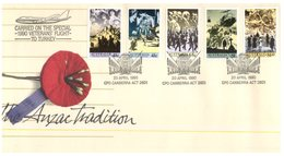 (67) Australia Cover - ANZAC Tradition - 1990 - Carried On Special Veteran Flight To Turkey - Airplanes