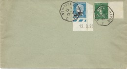 New-York Au Havre Semeuse + Pasteur 1927 - Postmark Collection (Covers)