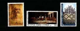 CYPRUS - 1981  LEONARDO DA VINCI  SET  MINT NH - Nuovi