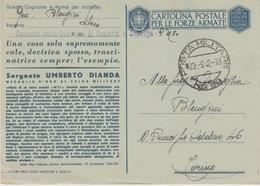 MILITARI/A - CARTOLINA POSTALE PER LE FORZE ARMATE-POSTA MILITARE N°80-MEDAGLIA D'ORO AL VALOR MILITARE-SERGENTE DIADA - Guerra 1914-18