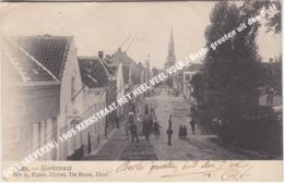 DOEL (BEVEREN) 1905 KERKSTRAAT MET HEEL VEEL VOLK / Beste Groeten Uit Den Doel - Beveren-Waas