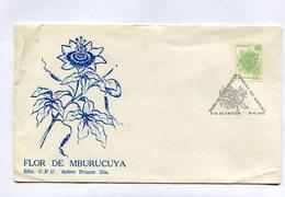 URUGUAY. FLOR DE MBURUCUYA. SOBRE PRIMER DIA URUGUAY. 1976. FDC. FLOWERS. FIORE. FLEUR. - NTVG - Vegetales