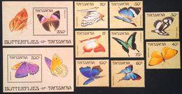 # Tanzania 1988**Mi.498-07  Butterflies , MNH [20;45] - Schmetterlinge