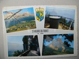 CPM Avec Blason St Hilaire Du Touvet (38) - Saint-Hilaire-du-Touvet