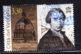 VATICANO VATIKAN VATICAN 2011 RUGERIUS BOSCOVICH SCIENZIATO GESUITA € 3,30 USATO USED OBLITERE' - Vaticano