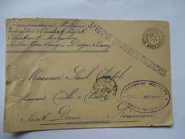 CORRESPONDANCE MILITAIRE  - DIEGO-SUAREZ (  MADAGASCAR )  VERS  LA  REUNION   TIRAILLEURS  MALGACHES 1917 - Militari