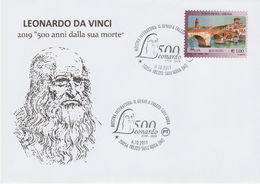 "Leonardo Da Vinci ""500. Todestag "", Sonderstempel Trezzo Sull'Adda / Italien - Arte"