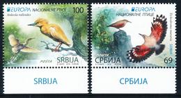 """SERBIA/Serbien EUROPA 2019 """"National Birds"""" Set Of 2v** - 2019"""