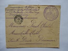 CORRESPONDANCE MILITAIRE  -  MADAGASCAR   VERS  LA  REUNION   -   CONSEIL D- ADMINISTRATION ... 1918 - Militaria