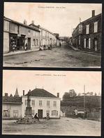 VITRY EN PERTHOIS: Bon Lot De 2 Belles Cartes écrites En 1918, Place De La Croix Et La Rue Du Pont - Altri Comuni