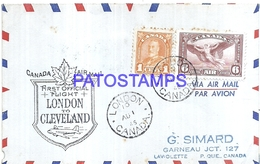 126663 CANADA COVER YEAR 1945 LONDON TO CLEVELAND NO POSTAL POSTCARD - Canadá