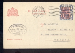 Amsterdam Ceels & Co Schiffsmakler Spediteure 1921 Geuzendam - Postal History