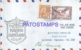126664 CANADA COVER YEAR 1946 AVIATION TORONTO TO CLEVELAND NO POSTAL POSTCARD - Kanada