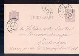Hallum Grootrond - 1899 - Geuzendam - Marcofilia