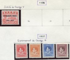 16066 NAURU Collection Vendue Par Page N°29, 33/6 *   1935-37   TB - Nauru