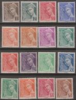 Francia 1938 YvN°404-416 16v MNH/* - Nuovi