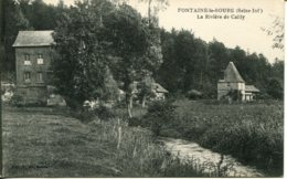 CPA - FONTAINE-LE-BOURG - RIVIERE DE CAILLY (ETAT PARFAIT) - Francia