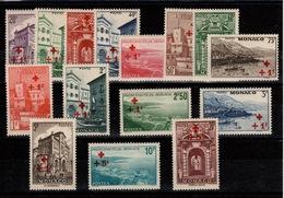 Monaco - YV 200 à 214 N* (infime Trace) Complete Croix Rouge Cote 185 Euros - Monaco