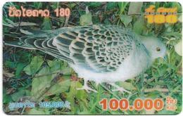 Laos - ETL - I-Card 180 - Beautiful Bird, Exp.31.12.2006, Remote Mem. 100.000₭, Used - Laos