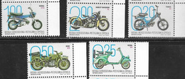 BOSNIA SERB , 2019, MNH, MOTORBIKES, MOTORCYCLES, BMW, HARLEY DAVIDSON, VESPA, 5v - Motos