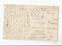 AMELIE LES BAINS (66) CARTE AVEC CACHET MILITAIRE HOPITAL THERMAL MILITAIRE PYRNEES ORIENTALES 1918 - Marcophilie (Lettres)
