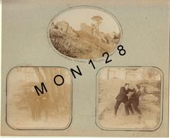 BLAGNAC (33) 4 PHOTOS TRES ANCIENNES COLLES SUR CARTON DUR - Photos