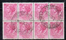 Q83 - REPUBBLICA 1955 , Turrita Stelle 13 Lira In Blocco Usato - 6. 1946-.. Repubblica