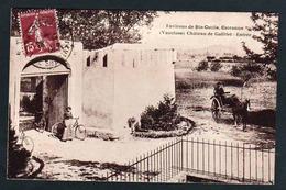 CAIRANNE: Belle Vue Animée Devant L'entrée Du Château De Gallifet. Carte Obl. En 1928. - France