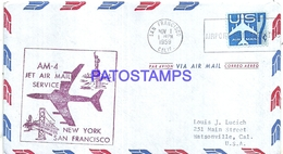 126670 US SAN FRANCISCO COVER YEAR 1959 AVIATION AM- 4 JET AIR MAIL SERVICE CIRCULATED TO CALIFORNIA NO POSTAL POSTCARD - Vereinigte Staaten