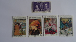 GRENADA - GRENADE - 5 TIMBRES  - 1 MNH++ 1937  Couronnement Georges VI + 4 TIMBRES 1976 Toulouse Lautrec Used - Grenada (1974-...)