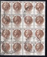 Q85 - REPUBBLICA , Turrita Stelle 100 Lira In Blocco Usato - 6. 1946-.. Repubblica