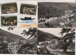 4 CPSM:LUTZELBOURG (57) VUE SUR PÉNICHE CANAL,VUE,TROIS VUES EN DIRECT AVEC....,QUARTIER DU CANAL - Francia