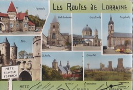 Carte 1962 LES ROUTES DE LORRAINE / METZ ST AVOLD FORBACH MERLEBACH L'HOPITAL - Otros Municipios