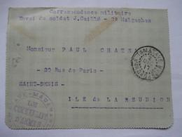 CORRESPONDANCE MILITAIRE  -  MADAGASCAR  ..... VERS  LA  REUNION   -   .. ... - Militari