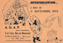 CP:DÉCENTRALISATION SEPTEMBRE 1955 STYLOS A.G.A.P. CRAYONS LE CID VINCENNES (94) - Vincennes