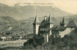 CPA - CONFLANS - CHATEAU DE MANUEL ET ALBERTVILLE (ETAT PARFAIT) - Autres Communes
