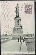 """Port-Said - 1922 - Mouchon Retouché Surchargé 10 M. Sur 30, Sur CPA """"Port-Said - Lessep's Statue"""" Cor. Pour  La France. - Lettres & Documents"""