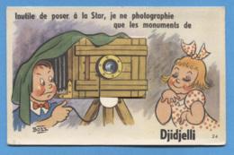 ALGERIE - DJIDJELLI - CARTE A SYSTEME SIGNEE BOZZ - Andere Städte