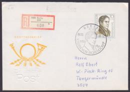 Joseph Von Eichendorff (1788 - 1857) 70 Pf.  DDR 3155, Aus Bl. 92 Portogenau R-Brief SoSt. BERLIN 8.3.88 - [6] République Démocratique