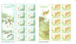 Ireland 1997 Europa: Tales And Legends, Mi 1000-1001 In Minisheets MNH(**) - 1949-... République D'Irlande