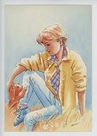 Raimon - Jeune Fille Chiot Dans Un Champ (n°754/2) - Illustratoren & Fotografen