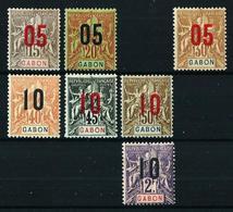 Gabón (Francés) Nº 68/9-71/4-77 Nuevo*/(*) - Nuevos