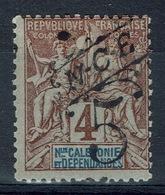 "New Caledonia, Type ""Groupe"", Overprint NCE 5/4c., 1900, MH VF - New Caledonia"